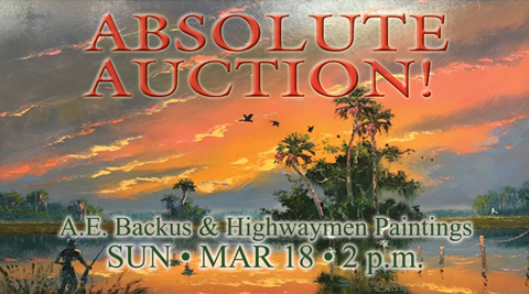 A.E. Backus and Highwaymen Painting