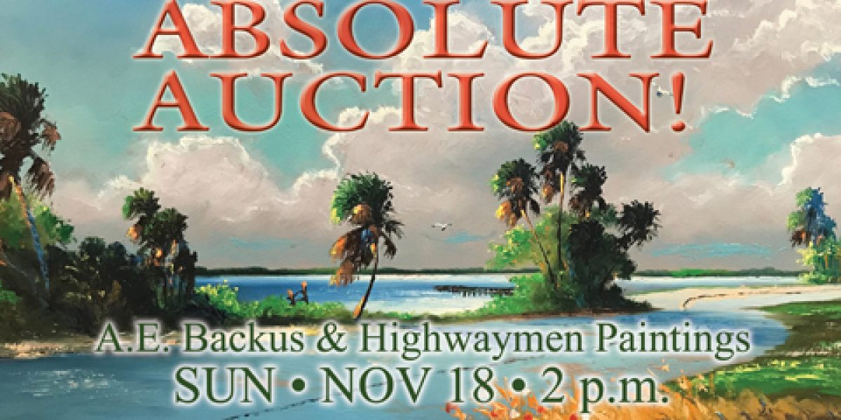 A.E. Backus & Highwaymen Painting Auction